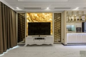 phong cách nội thất tân cổ điển - thiết kế phòng khách bếp 4
