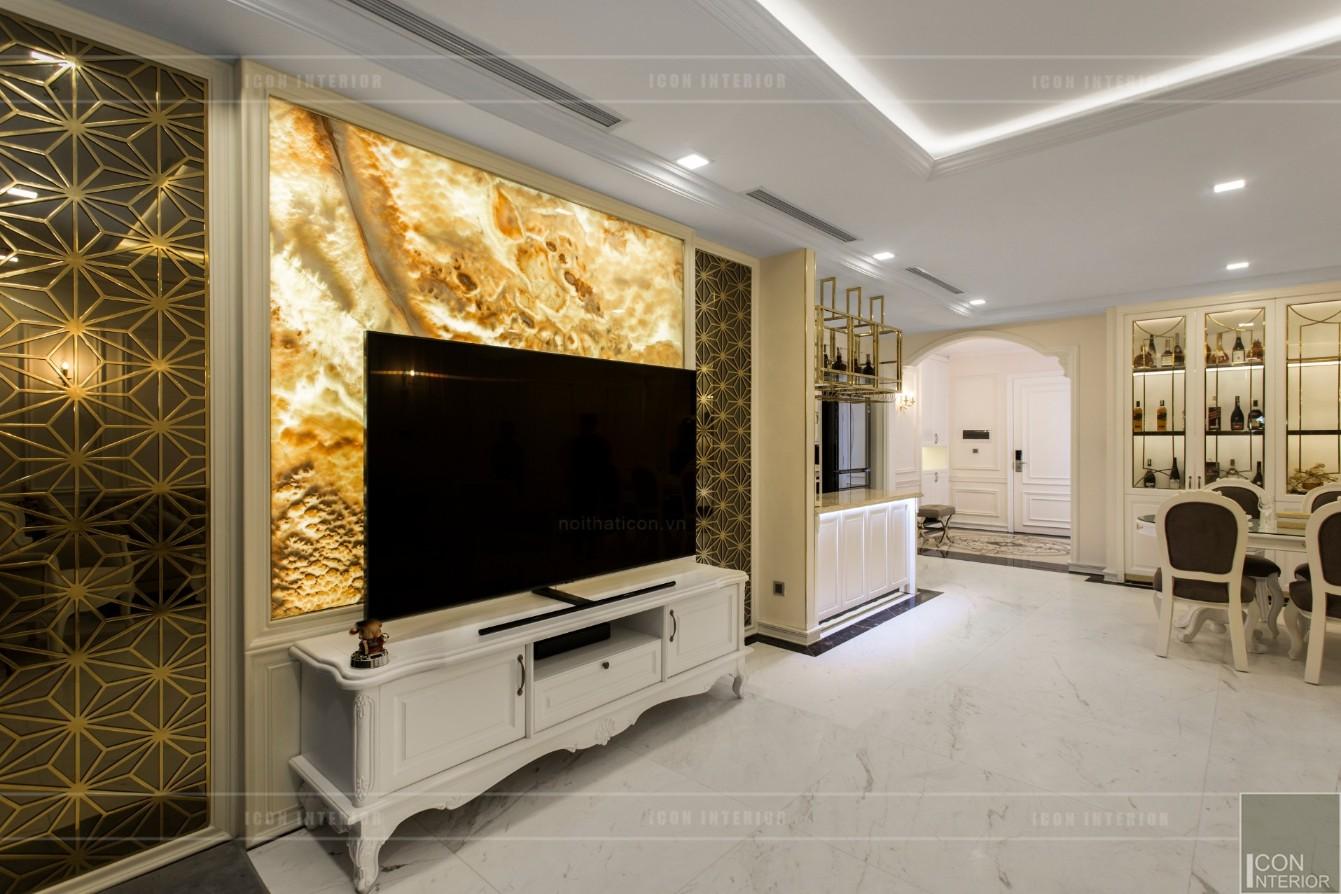 phong cách nội thất tân cổ điển - thiết kế phòng khách bếp 5