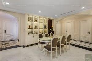 phong cách nội thất tân cổ điển - thiết kế phòng khách bếp 15