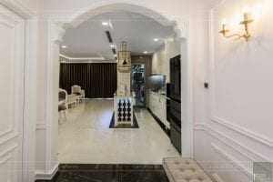 phong cách nội thất tân cổ điển - thiết kế phòng khách bếp 1