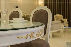 phong cách nội thất tân cổ điển - thiết kế phòng khách bếp 16