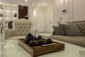 phong cách nội thất tân cổ điển - thiết kế phòng khách bếp 7