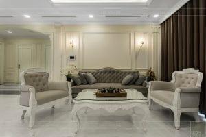 phong cách nội thất tân cổ điển - thiết kế phòng khách bếp 2