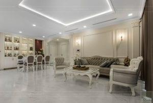 phong cách nội thất tân cổ điển - thiết kế phòng khách bếp 6