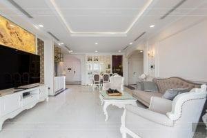 phong cách nội thất tân cổ điển - thiết kế phòng khách bếp 8