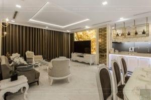 phong cách nội thất tân cổ điển - thiết kế phòng khách bếp 19