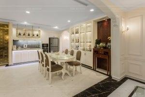 phong cách nội thất tân cổ điển - thiết kế phòng khách bếp 17