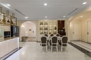 phong cách nội thất tân cổ điển - thiết kế phòng khách bếp 11