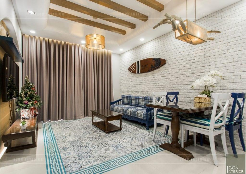 Công trình chung cư thực tế phong cách Địa Trung Hải