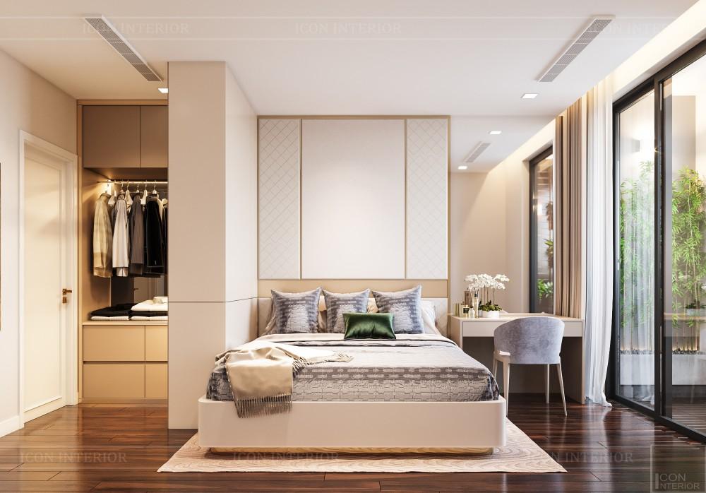 phòng ngủ master căn hộ 80m2