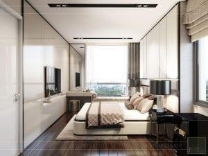 thiết kế nội thất phòng ngủ căn hộ masteri an phú quận 2