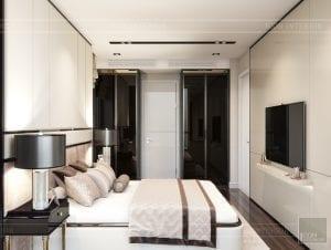 thiết kế nội thất căn hộ masteri an phú quận 2 - phòng ngủ nhỏ