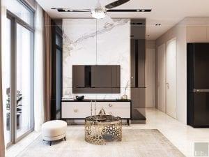 thiết kế phòng khách căn hộ masteri an phú quận 2