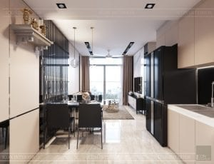 căn hộ masteri an phú quận 2 - phòng khách bếp