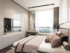 thiết kế phòng ngủ căn hộ masteri an phú quận 2