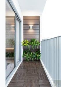 thiết kế căn hộ sunrise cityview - ban công