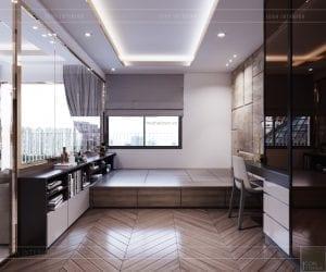 thiết kế căn hộ sunrise cityview - phòng ngủ nhỏ 1