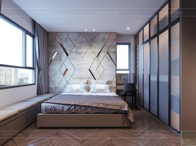 thiết kế căn hộ sunrise cityview - phòng ngủ master 2