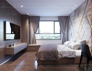 thiết kế căn hộ sunrise cityview - phòng ngủ master 1