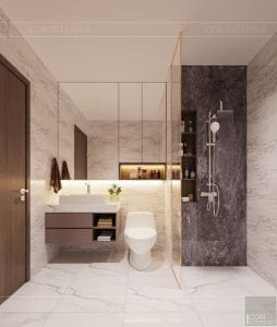 thiết kế căn hộ sunrise cityview - phòng vệ sinh 2