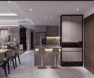 thiết kế căn hộ sunrise cityview - quầy bar