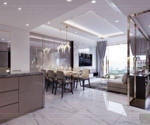 thiết kế căn hộ sunrise cityview - phòng ăn