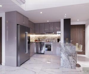 thiết kế căn hộ sunrise cityview - phòng bếp