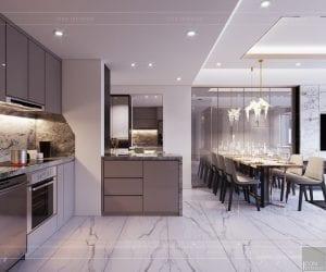 thiết kế căn hộ sunrise cityview - phòng ăn 1