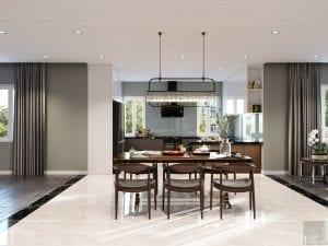 thiết kế nội thất biệt thự cao cấp - phòng ăn 2