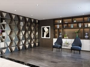 thiết kế nội thất biệt thự cao cấp - phòng khách bếp 6