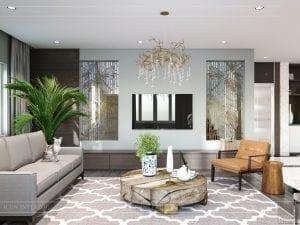 thiết kế nội thất biệt thự cao cấp - phòng khách bếp 3