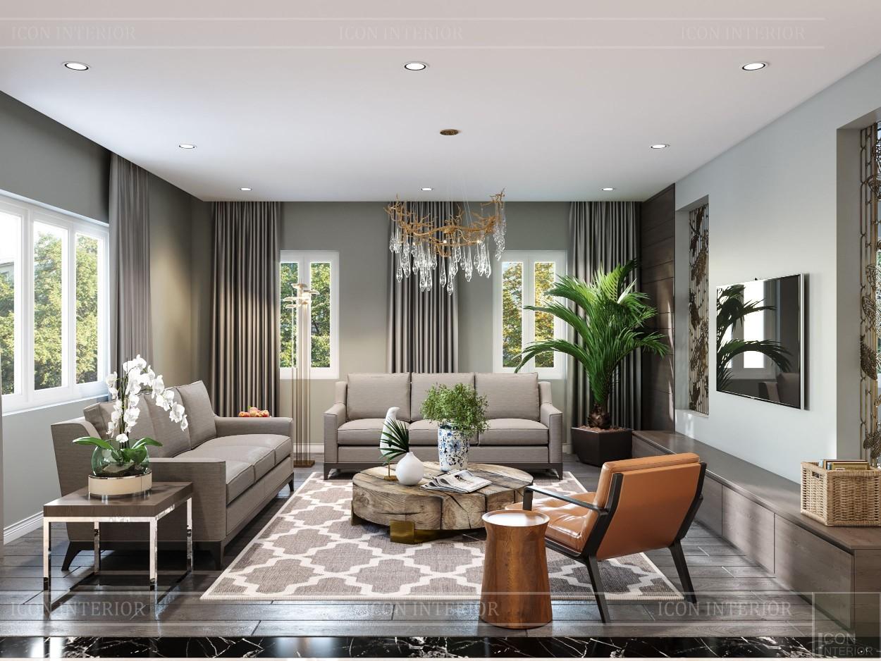 thiết kế nội thất biệt thự cao cấp - phòng khách bếp 1