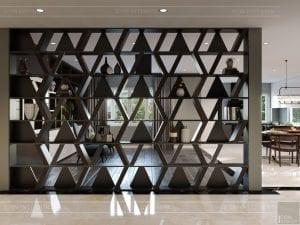 thiết kế nội thất biệt thự cao cấp - phòng khách bếp 5
