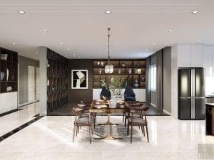 thiết kế nội thất biệt thự cao cấp - phòng ăn 3