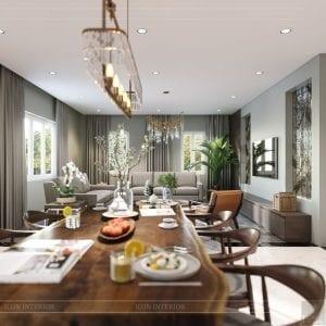 thiết kế nội thất biệt thự cao cấp - phòng ăn 4