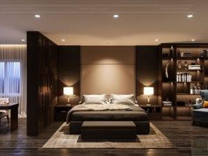thiết kế nội thất biệt thự cao cấp - phòng ngủ master 4