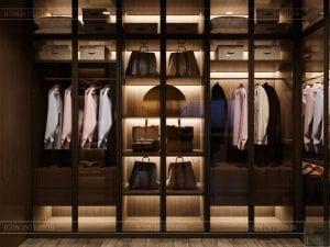 thiết kế nội thất biệt thự cao cấp - tủ quần áo 2