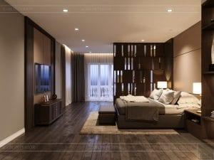 thiết kế nội thất biệt thự cao cấp - phòng ngủ master 2