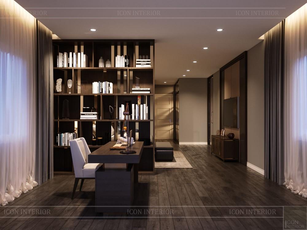 thiết kế nội thất biệt thự cao cấp - phòng làm việc 2