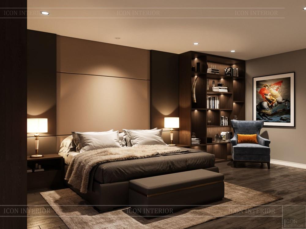 thiết kế nội thất biệt thự cao cấp - phòng ngủ master 5