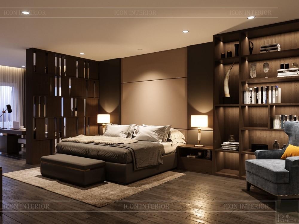 thiết kế nội thất biệt thự cao cấp - phòng ngủ master 3