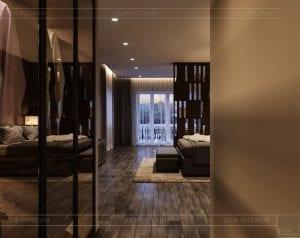 thiết kế nội thất biệt thự cao cấp - phòng ngủ master 1