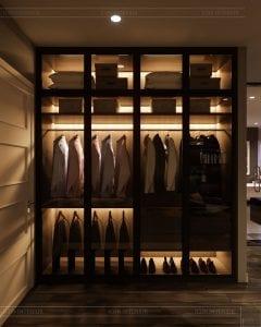 thiết kế nội thất biệt thự cao cấp - tủ quần áo 1