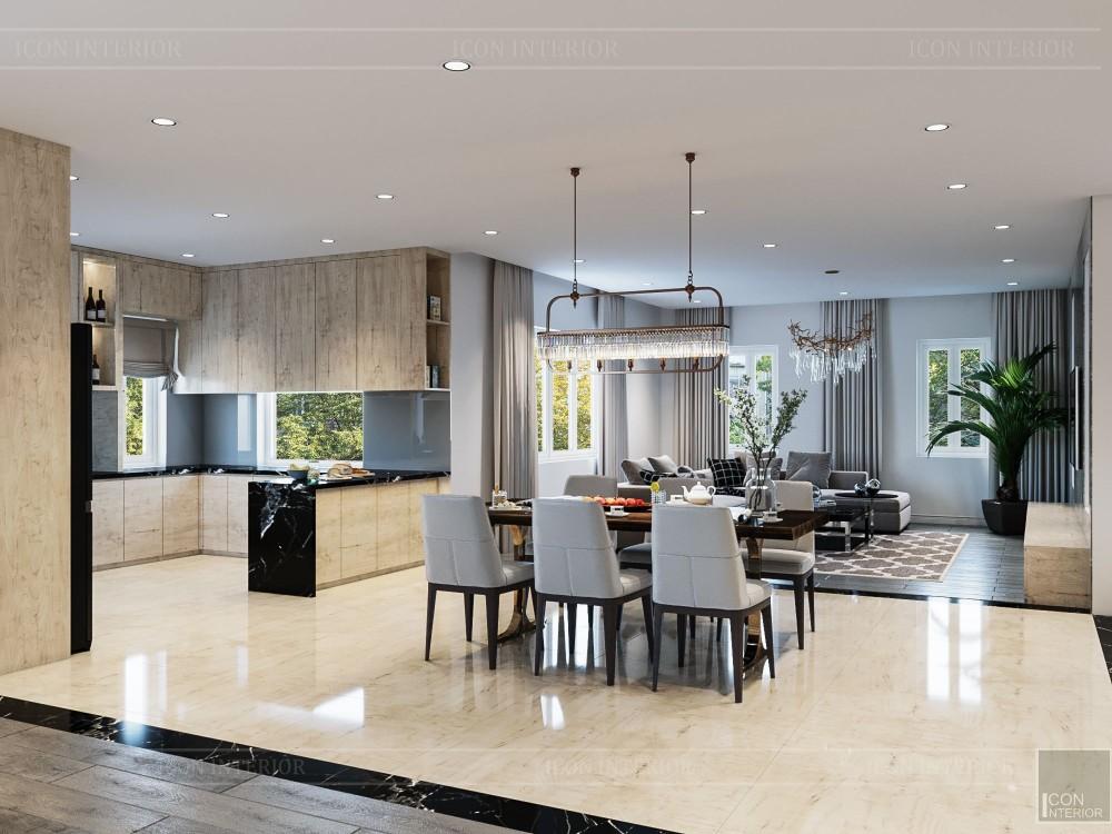 thiết kế nội thất biệt thự hiện đại - phòng khách bếp 7