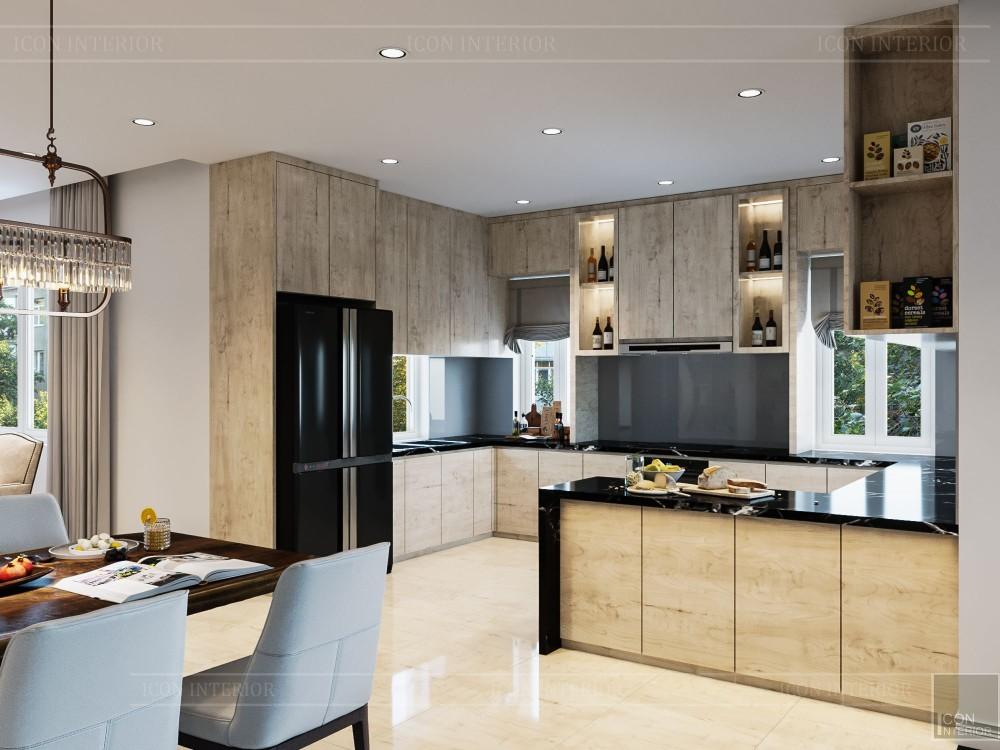 thiết kế nội thất biệt thự hiện đại - phòng khách bếp 8