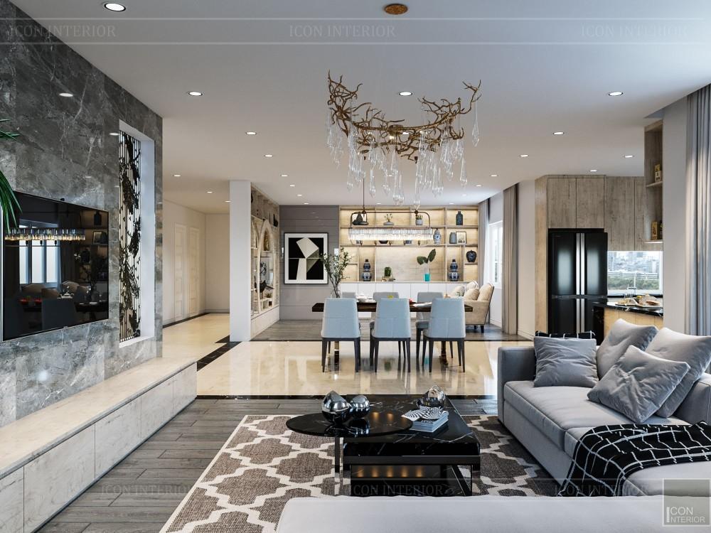 thiết kế nội thất biệt thự hiện đại - phòng khách bếp 11