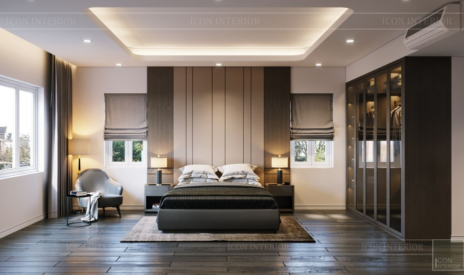thiết kế nội thất biệt thự hiện đại - phòng ngủ nhỏ 5