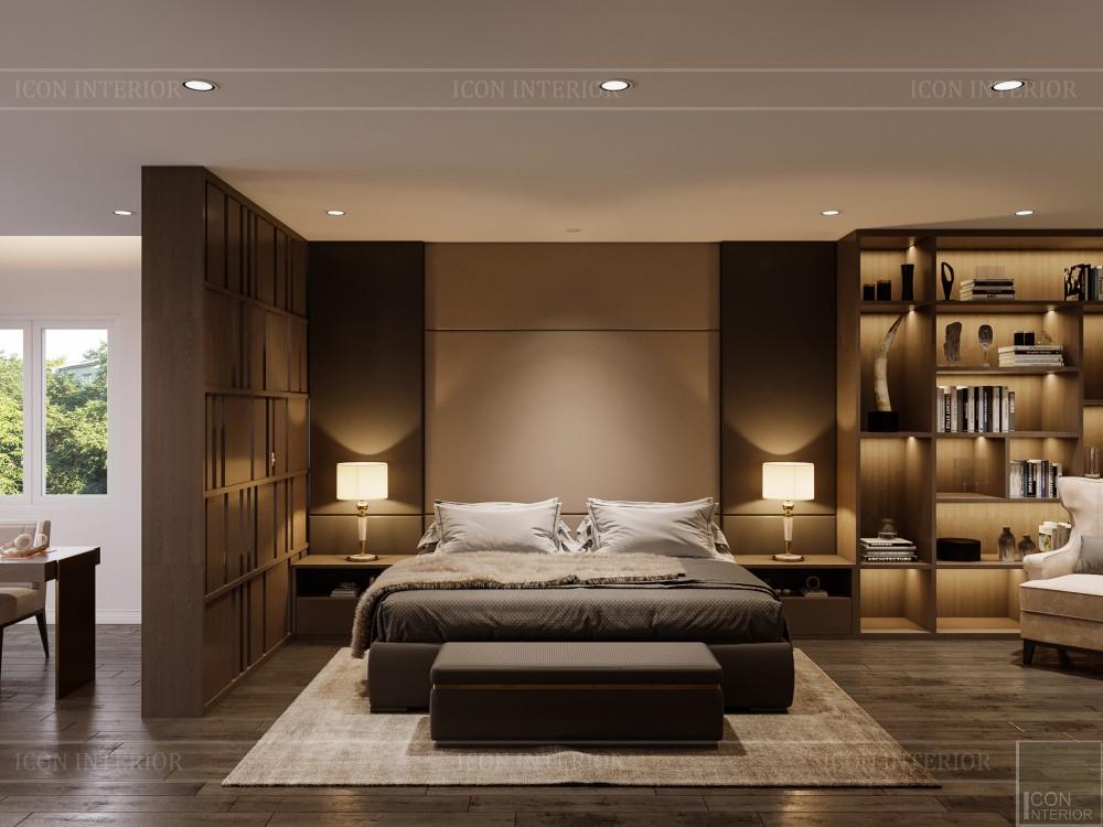 thiết kế nội thất biệt thự hiện đại - phòng ngủ master 4