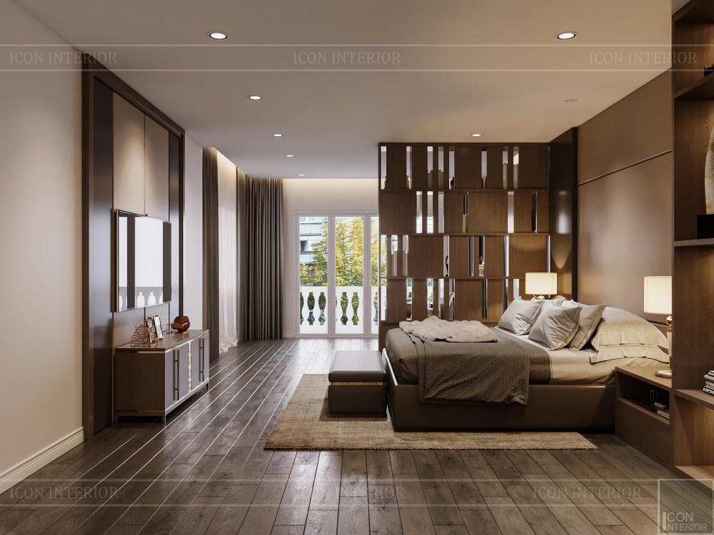 thiết kế nội thất biệt thự hiện đại - phòng ngủ master 3