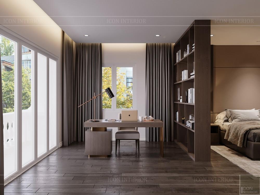 thiết kế nội thất biệt thự hiện đại - phòng ngủ master 7